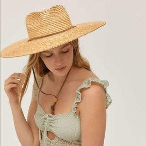 Urban outfitters UO shallow crown straw hat